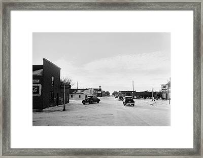Small Town America 1948 Framed Print by Donald  Erickson
