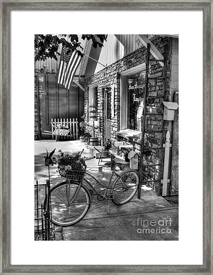 Small Town America Bw Framed Print