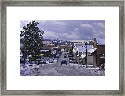 Framed Print featuring the photograph Small Town America by Sherri Meyer