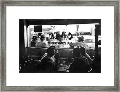 Small Town Cafe, 1941 Framed Print by Granger