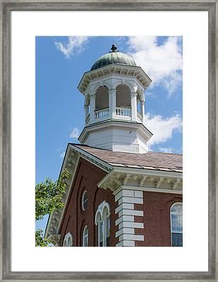 Small Town Church Framed Print by John M Bailey