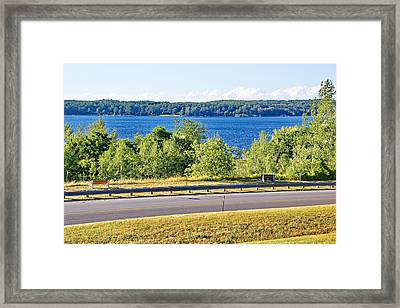 Small Town Georgian Bay Waterfront Views Framed Print