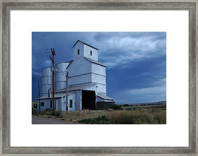 Framed Print featuring the photograph Small Town Hot Night Big Storm by Cathy Anderson