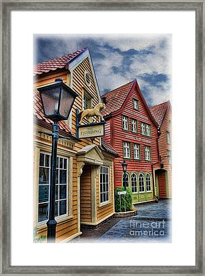 Small Town Merchants II Framed Print by Lee Dos Santos