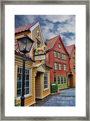 Small Town Merchants  Framed Print by Lee Dos Santos