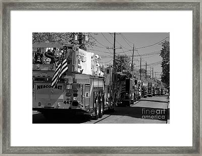 Small Town Parade Today Framed Print