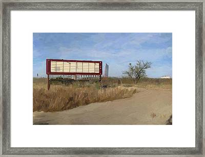 Small Town Texas Framed Print by GCannon