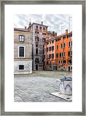 Small Venetian Square Framed Print