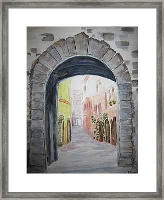 Small Village In Italy Framed Print