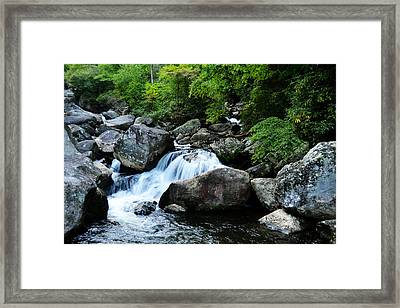 Small Waterfall Framed Print by Adam LeCroy