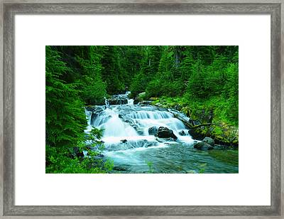 Small Waterfall On The Paradise River Framed Print by Jeff Swan