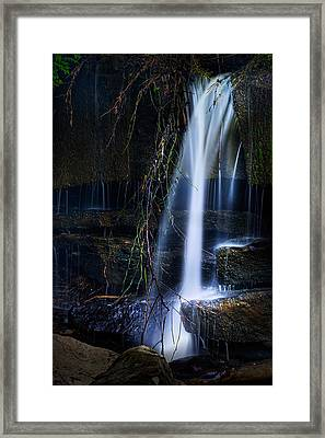 Small Waterfall Framed Print by Tom Mc Nemar