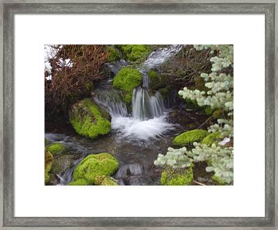 Small Waterfalls Framed Print by Yvette Pichette