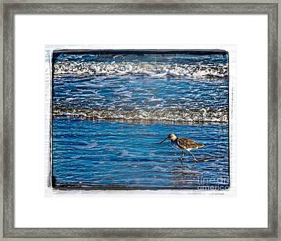 Small Waves Framed Print by Perry Webster