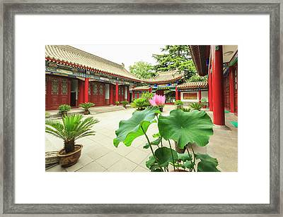 Small Wild Goose Pagoda, Jianfu Temple Framed Print