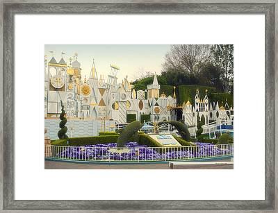 Small World Fantasyland Disneyland 01 Framed Print by Thomas Woolworth