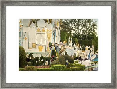 Small World Fantasyland Disneyland 02 Framed Print by Thomas Woolworth