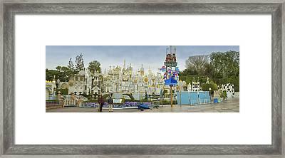 Small World Fantasyland Disneyland Panorama Framed Print by Thomas Woolworth