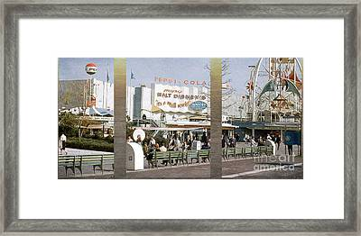 Small World Triptych Framed Print by Terry Weaver