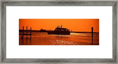 Small Yachts In The Atlantic Ocean Framed Print