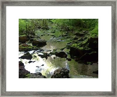Smallin Creek Framed Print by Julie Grace