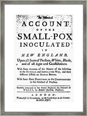 Smallpox: Title Page, 1726 Framed Print by Granger