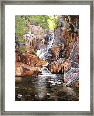 Smalls Falls Maine Framed Print by Kevin F Heuman