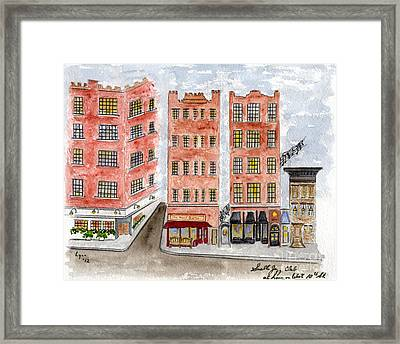 Small's Jazz Club On West 10th Street Framed Print by AFineLyne