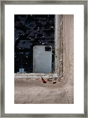 Smart Phone Case Framed Print by Peter Tellone