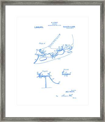 smart skate 1920 patent Blueprint  Framed Print