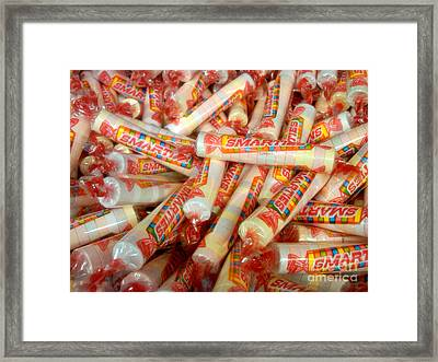 Smarties Penny Candy Framed Print