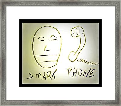 Smartphone Framed Print by Beto Machado