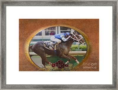 Smarty Jones Framed Print by Betty LaRue