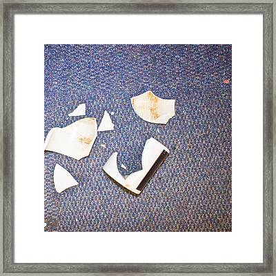 Smashed Cup Framed Print by Tom Gowanlock