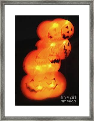 Smashing Pumpkin Stack Framed Print by Gregory Dyer