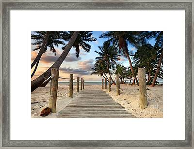 Smathers Beach 2 Framed Print by Rod McLean