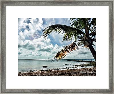 Smathers Beach Framed Print by Joan  Minchak