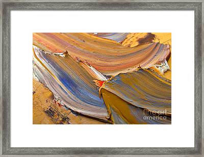 Smeared Paint Framed Print by Louise Heusinkveld