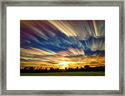 Smeared Sky Sunset Framed Print