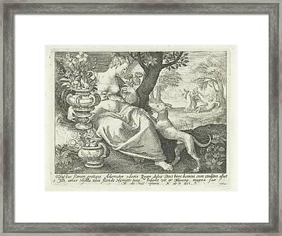 Smell, Nicolaes De Bruyn Framed Print