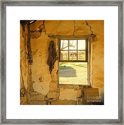 Smell Of Hay Framed Print by Joe Jake Pratt