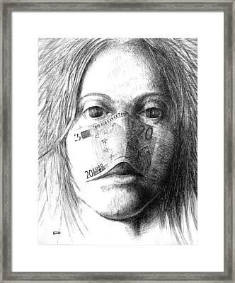 Smell Of Money Framed Print