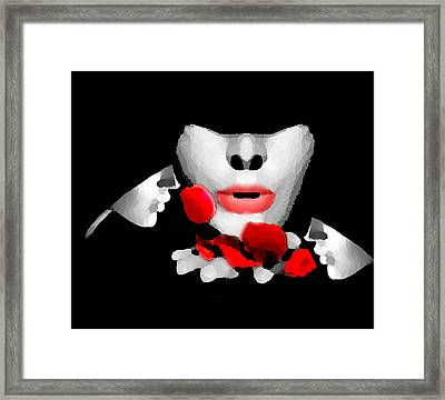 Smell The Roses 3 Framed Print by Bruce Iorio