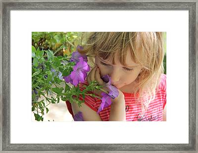 Smell The Summer Framed Print by Jackie Mestrom