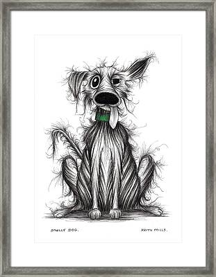 Smelly Dog Framed Print by Keith Mills
