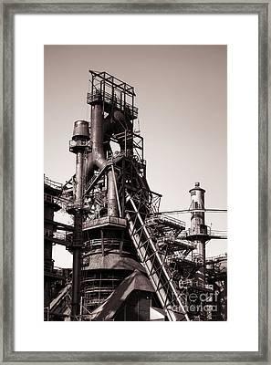 Smelting Furnace Framed Print by Olivier Le Queinec