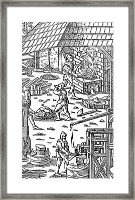 Smelting Iron Framed Print by Universal History Archive/uig