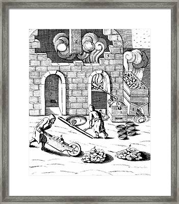Smelting Of Copper Framed Print by Universal History Archive/uig