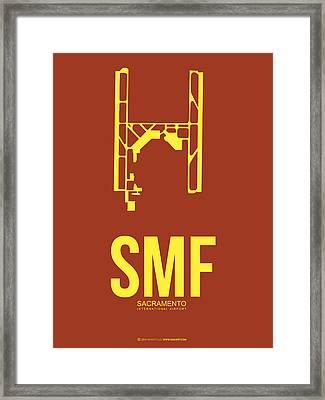 Smf Sacramento Airport Poster 1 Framed Print by Naxart Studio