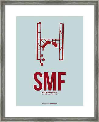 Smf Sacramento Airport Poster 2 Framed Print by Naxart Studio